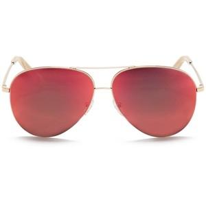 Aviator Red Sunglasses