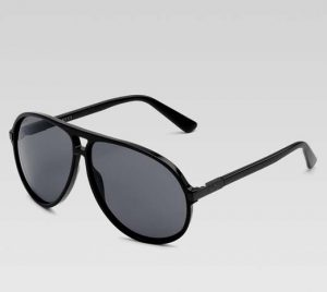 Black Plastic Aviator Sunglasses