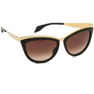 Black and Gold Cat Eye Sunglasses