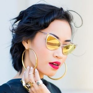 Cat Eye Gold Sunglasses