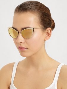 Gold Cat Eye Sunglasses Pictures