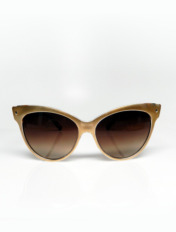 Gold Frame Cat Eye Sunglasses : Gold Cat-Eye Sunglasses Top Sunglasses