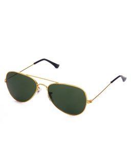 Green Aviator Sunglass