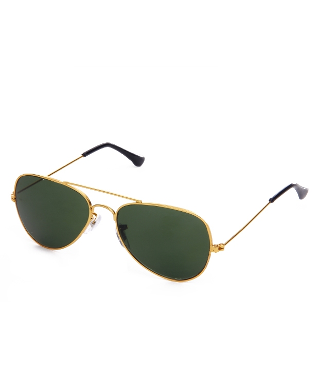 46dc42166e Green Aviator Sunglasses