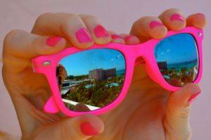 Hot Pink Wayfarer Sunglasses
