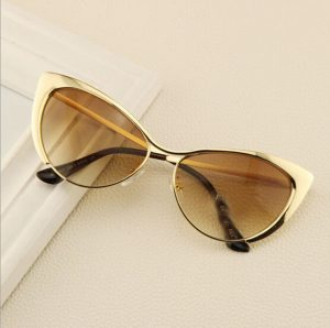 Images of Gold Cat Eye Sunglasses