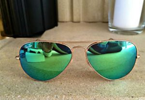 Images of Green Aviator Sunglasses