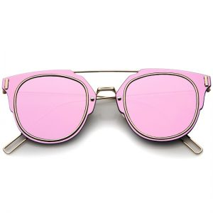 Images of Pink Mirrored Sunglasses