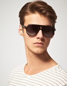 Mens Plastic Aviator Sunglasses
