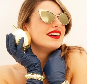Pictures of Gold Cat Eye Sunglasses