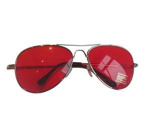 Red Aviator Sunglass