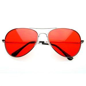 Red Aviator Sunglasses