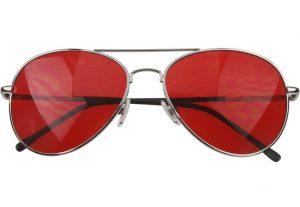 Red Aviator Sunglasses for Men