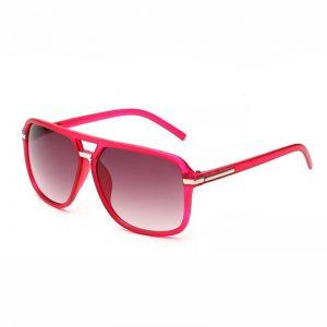 Red Frame Aviator Sunglasses