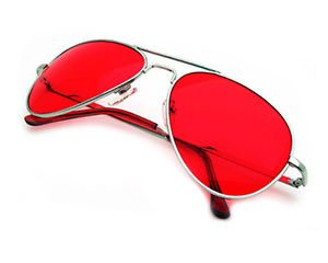 Red Lens Aviator Sunglasses