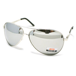 Silver Mirrored Sunglasses Men