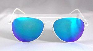 White Aviator Sunglasses Photos