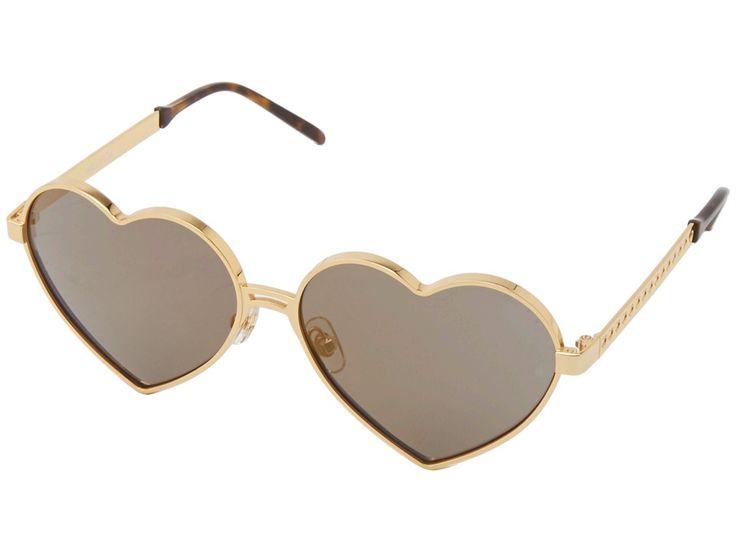 Gold Frame Heart Shaped Sunglasses : Heart Shaped Sunglasses Top Sunglasses