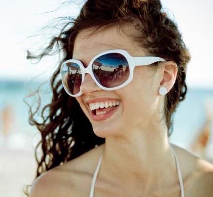 White Frame Sunglasses...