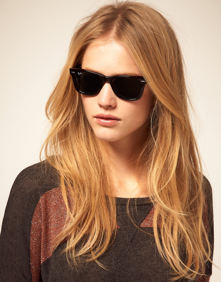 Women s Black Wayfarer Sunglasses 45bee08381