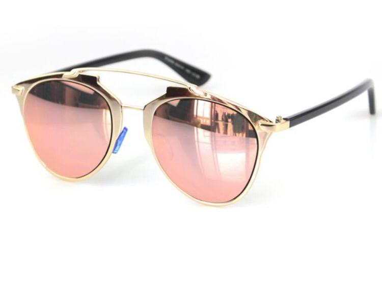 Rose Gold Mirrored Sunglasses Topsunglasses Net